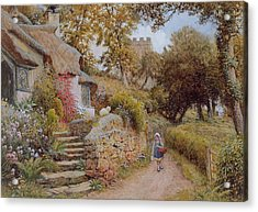 A Country Lane Acrylic Print by Arthur Claude Strachan