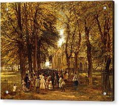 A Country Wedding Acrylic Print by Charles Thomas Burt