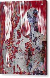 A Couple Acrylic Print by Jack Zulli