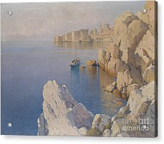 A Cove In Dubrovnik Acrylic Print by Celestial Images
