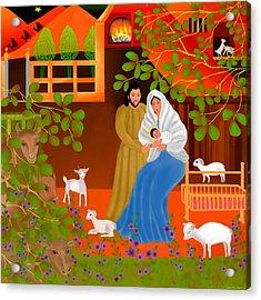 A Cradle In Bethlehem Acrylic Print by Latha Gokuldas Panicker
