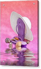 A Day At The Beach Still Life Acrylic Print by Tom Mc Nemar