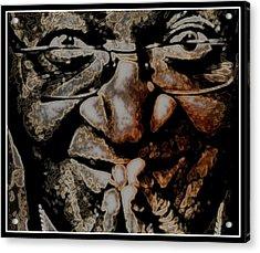 A Determined Man Acrylic Print by Wendie Busig-Kohn