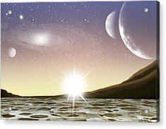 A Distant World Acrylic Print by Brian Wallace