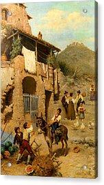 A Donkeys Reward Acrylic Print by Francesco Bergamini