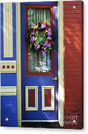 A Door Of Many Colors Acrylic Print by Mel Steinhauer