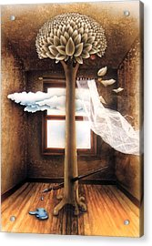 A Dream Of Words Acrylic Print by Jose Luis Alcover