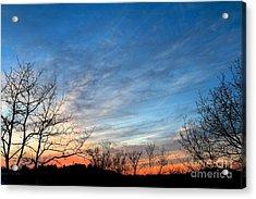 A February Sunset Acrylic Print by Jay Nodianos