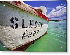 A Fishing Boat Named Sledge II Acrylic Print by David Letts