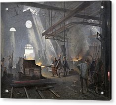 A Forge, 1893  Acrylic Print by Fernand Cormon