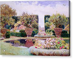 A Formal Garden In Rome Acrylic Print by George Samuel Elgood