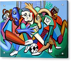 A Friendly Game Of Soccer Acrylic Print by Anthony Falbo
