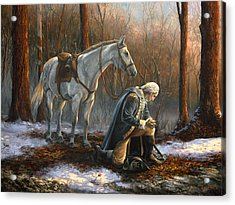A General Before His King Acrylic Print by Tim Davis