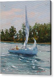 A Gift Of Memories Two On Rhodes 19 Acrylic Print by Laura Lee Zanghetti