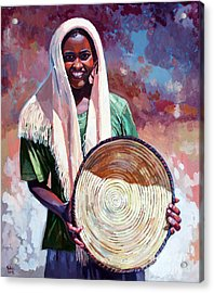 A Girl From The Countryside Acrylic Print by Mohamed Fadul