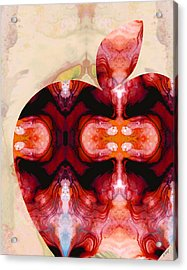 A Good Apple - Fruit Art By Sharon Cummings Acrylic Print by Sharon Cummings