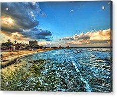 a good morning from Hilton's beach Acrylic Print by Ron Shoshani