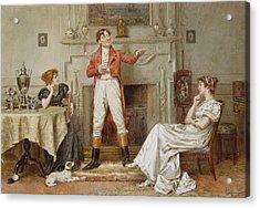 A Good Story Acrylic Print by George Goodwin Kilburne