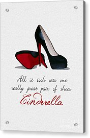 A Great Pair Of Shoes Acrylic Print by Rebecca Jenkins