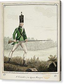 A Grenadier Of The Queen's Rangers Acrylic Print by British Library