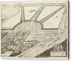 A Ground Plan Of Hampton Court Acrylic Print by British Library