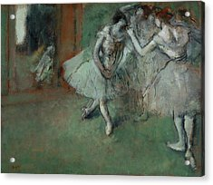 A Group Of Dancers Acrylic Print by Edgar Degas