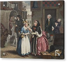 A Harlots Progress, Plate I Acrylic Print by William Hogarth