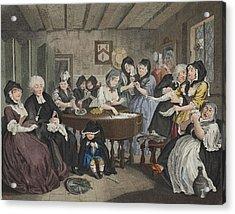 A Harlots Progress, Plate Vi Acrylic Print by William Hogarth