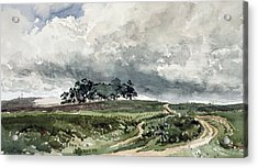 A Heath Scene Acrylic Print by Thomas Collier