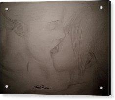 A Kiss Acrylic Print by Samuel Palibroda