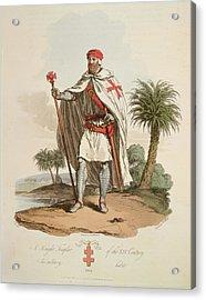 A Knight Templar Acrylic Print by British Library