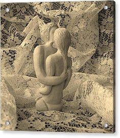 A Lace Kiss Acrylic Print by Barbara St Jean