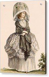 A Ladys Summer Promenade Gown, Engraved Acrylic Print by Claude Louis Desrais