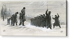 A Last Minute Reprieve Saved Fyodor Dostoievski From The Firing Squad Acrylic Print by  Ralph Bruce