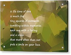 A Life Time Of Love Acrylic Print by Jeff Swan