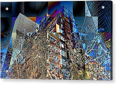 A Little Bit Of Spring In The City Acrylic Print by Miriam Danar