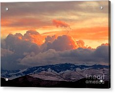 A Lovely Stormy Susnset Acrylic Print by Phyllis Kaltenbach