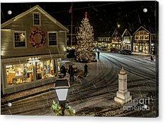 A Maine Christmas Acrylic Print by Joe Faragalli