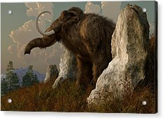 A Mammoth On Monument Hill Acrylic Print by Daniel Eskridge