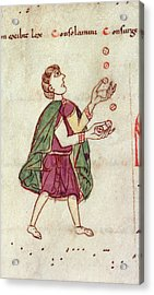 A Man Juggling Acrylic Print by British Library