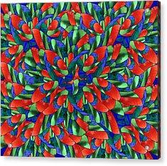 A Maze Of Nature Acrylic Print by Georgiana Romanovna