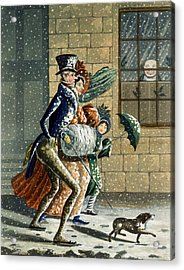 A Merry Christmas And Happy New Year Acrylic Print by W Summers