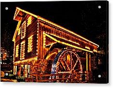 A Mill In Lights Acrylic Print by DJ Florek