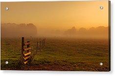 A Misty Sunrise Acrylic Print by Chris Fletcher