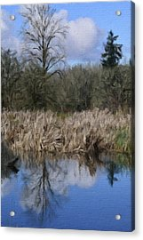 A Moment Of Reflection Acrylic Print by Bonnie Bruno
