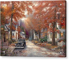 A Moment On Memory Lane Acrylic Print by Chuck Pinson