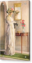 A Moment's Reflection Acrylic Print by William Henry Margetson