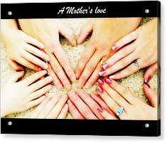 A Mother's Love Acrylic Print by Michelle Frizzell-Thompson
