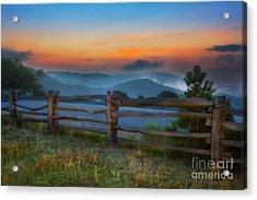 A New Beginning - Blue Ridge Parkway Sunrise I Acrylic Print by Dan Carmichael