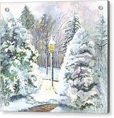A Warm Winter Greeting Acrylic Print by Carol Wisniewski
